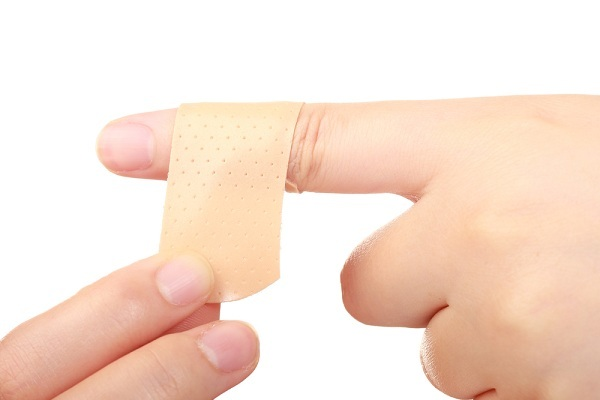 bandaid on finger