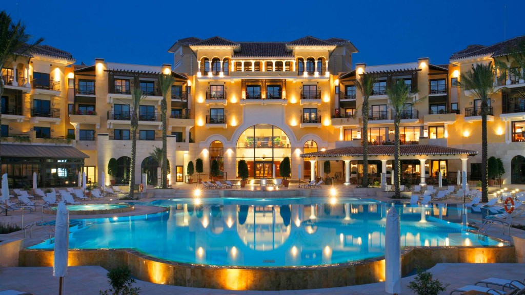 Luxury hotel with pool